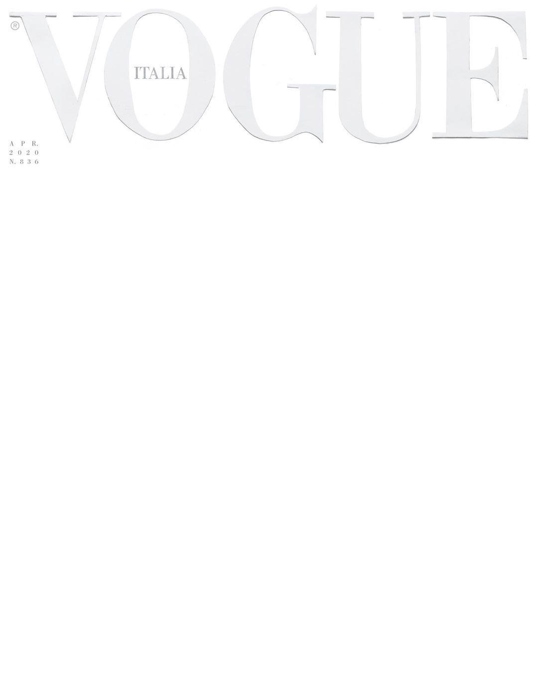 Vogue Italia, April 2020
