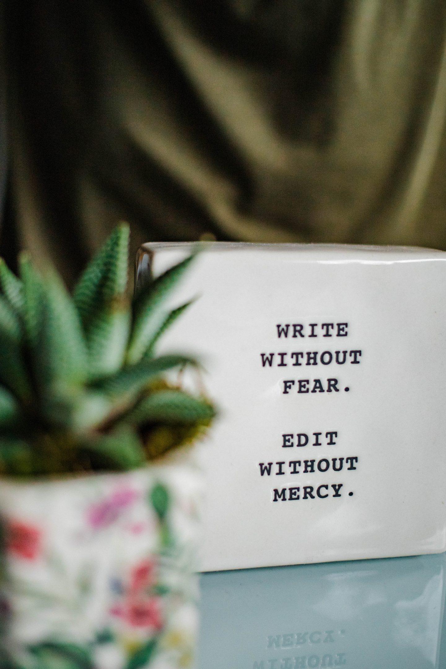 Writers block; a halt in creativity